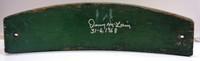 "Denny McLain Autographed Tiger Stadium Seat Slat Top Section w/ ""31-6, 1968"""