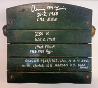 Denny McLain Autographed Tiger Stadium Seat Bottom with Multiple Inscriptions