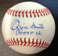 "Ozzie Smith Autographed Official Major League Baseball w/ ""HOF 02"""