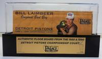Bill Laimbeer Palace of Auburn Hills Floor Slat with Case