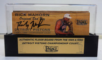 Rick Mahorn Autographed Palace of Auburn Hills Floor Slat with Case