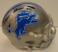 Kerryon Johnson Autographed Detroit Lions Deluxe Replica Speed Helmet