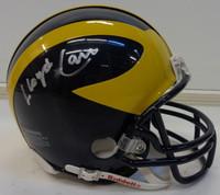 Lloyd Carr Autographed Michigan Wolverines Non-Speed Mini Helmet