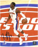 Reggie Jackson Autographed Detroit Pistons 8x10 Photo #3
