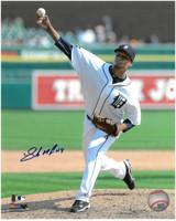 Luis Marte Autographed Detroit Tigers 8x10 Photo