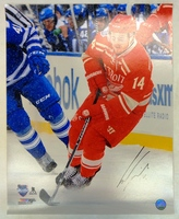 Gustav Nyquist Autographed Detroit Red Wings 16x20 Photo #1