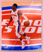 Reggie Jackson Autographed Detroit Pistons 16x20 Photo