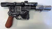 Harrison Ford Star Wars Autographed Empire Strikes Back DL-44 Blaster Gun - Hans Solo (Brown Handle)