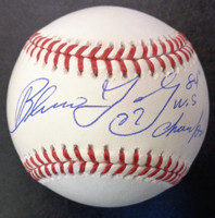 """Barbaro Garbey Autographed  Official Major League Baseball w/ """"84 WS Champs"""""""