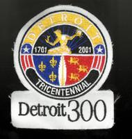 Detroit 300 Tricentennial Collector Patch