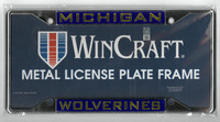 University of Michigan Wincraft Metal License Plate Frame