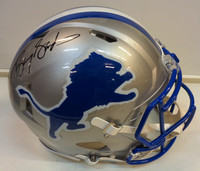 Barry Sanders Autographed Detroit Lions Full Size Authentic Throwback Speed Helmet