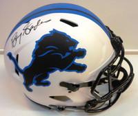 Barry Sanders Autographed Detroit Lions Full Size Authentic Lunar Eclipse Helmet
