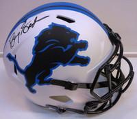 Barry Sanders Autographed Detroit Lions Full Size Replica Lunar Eclipse Helmet