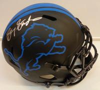 Barry Sanders Autographed Detroit Lions Full Size Replica Eclipse Helmet