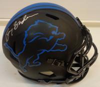 Barry Sanders Autographed Detroit Lions Mini Eclipse Helmet