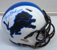 Barry Sanders Autographed Detroit Lions Mini Lunar Eclipse Helmet