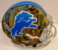 """Calvin Johnson Autographed Detroit Lions Full Size Authentic Camo Helmet w/ """"HOF 21"""""""