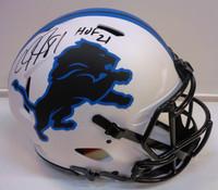 """Calvin Johnson Autographed Detroit Lions Full Size Authentic Lunar Eclipse Helmet w/ """"HOF 21"""""""