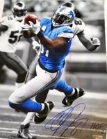 """Calvin Johnson Autographed Detroit Lions 16x20 Photo w/ """"HOF 21"""" - #2"""