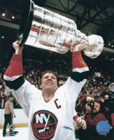 Denis Potvin Autographed 8x10 Islanders #3 - With Cup (Pre-Order)