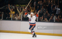 Clark Gillies Autographed 8x10 Islanders #1 - White Jersey (Pre-Order)
