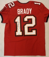 Tom Brady Autographed Tampa Bay Buccaneers Nike Elite Jersey - Red