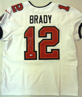 Tom Brady Autographed Tampa Bay Buccaneers Nike Elite Jersey - White