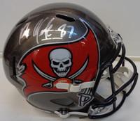 Rob Gronkowski Autographed Tampa Bay Buccaneers Replica Speed Full Size Helmet