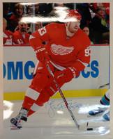 Johan Franzen Autographed Detroit Red Wings 16x20 Photo #2