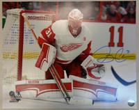 Jared Coreau Autographed Detroit Red Wings 16x20 Photo #3