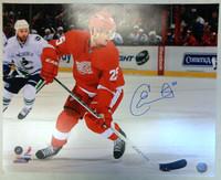 Corey Emmerton Autographed Detroit Red Wings 16x20 Photo