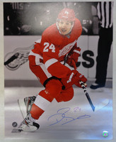 Damien Brunner Autographed Detroit Red Wings 16x20 Photo
