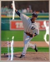 Luis Marte Autographed Detroit Tigers 16x20 Photo