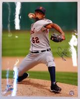 Al Alburquerque Autographed Detroit Tigers 16x20 Photo