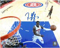 Reggie Jackson Autographed Detroit Pistons 8x10 Photo #4