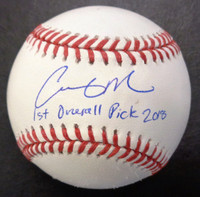 """Casey Mize Autographed Official Major League Baseball with """"1st Overall Pick 2018"""""""
