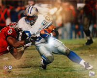 Barry Sanders Autographed 16x20 Photo #2 - White Jersey Action (Pre-Order)