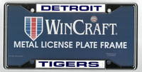 Detroit Tigers Wincraft Metal License Plate Frame - Blue on White