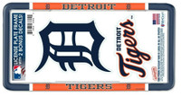 Detroit Tigers Wincraft Plastic License Plate Frame with 2 Bonus Decals