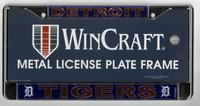 Detroit Tigers Wincraft Metal License Plate Frame - Orange on Blue