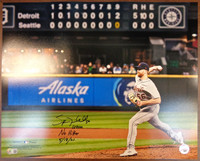 """Spencer Turnbull Autographed Last Out 16x20 Photo w/ """"No Hitter 5/18/21"""""""