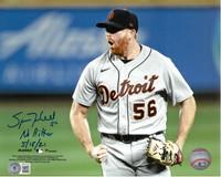 "Spencer Turnbull Autographed Celebration 8x10 Photo w/ ""No Hitter 5/18/21"""
