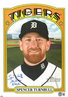"""Spencer Turnbull Autographed 2021 Topps L/E /99 10x14 Card w/ """"No Hitter 5/18/21"""""""