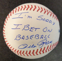 "Pete Rose Autographed Baseball - Official Major League Ball w/ ""I'm Sorry I Bet On Baseball"""
