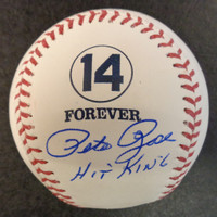 """Pete Rose Autographed Baseball - 14 Forever Logo Official Major League Ball w/ """"Hit King"""""""