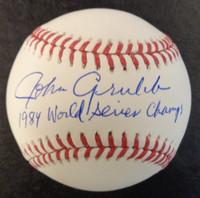 "John Grubb Autographed Baseball - Official Major League Ball w/ ""1984 World Series Champs"""