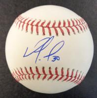 Nomar Mazara Autographed Baseball - Official Major League Ball