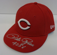 """Pete Rose Autographed New Era 59Fifty Fitted Cincinnati Reds Hat w/ """"4256"""""""