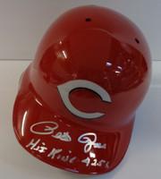"Pete Rose Autographed Full Size Cincinnati Reds Batting Helmet w/ ""Hit King 4256"""
